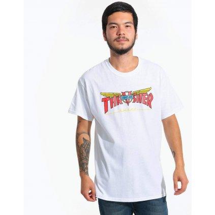 Pánske tričko THRASHER Venture Collab white