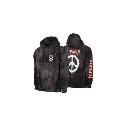 ripndip expressions hoodie black lightning wash