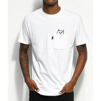 RIPNDIP Lord Nermal Pocket White T Shirt 150896 front CA