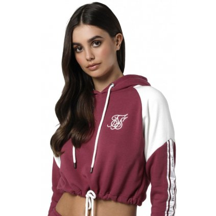 siksilk cropped panel hoodie malaga p3797 39047 medium