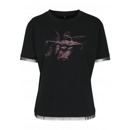 Dámske tričko MERCHCODE Ladies My Chemical Romance Shrine Angel Laces Tee
