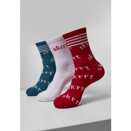 Ponožky MR.TEE Skrrt AOP Socks 3-Pack