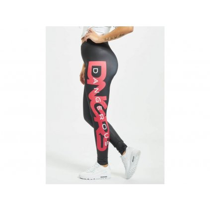 177629 dangerous dngrs legging tregging hyena in black