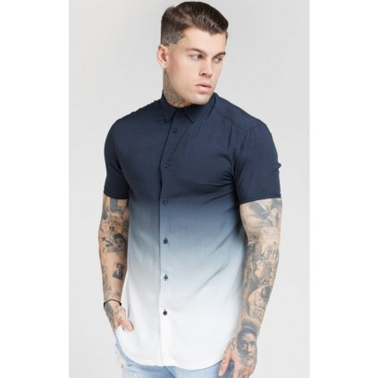 siksilk resort shirt navy white p4659 44264 medium