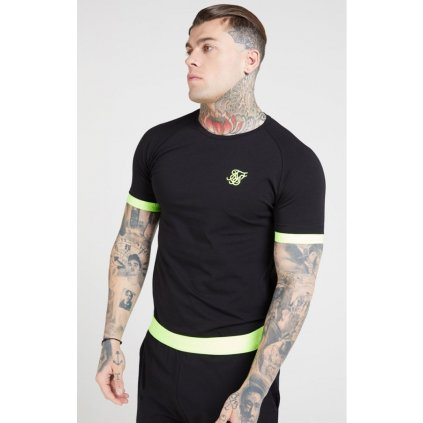 siksilk s s neon tech tee black neon yellow p4622 43047 medium