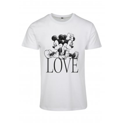 Dámske tričko MERCHCODE Ladies Minnie Loves Mickey Tee