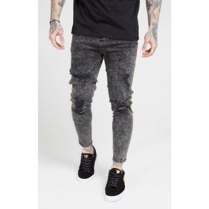 siksilk distressed skinny taped denims faded grey p4533 42244 medium