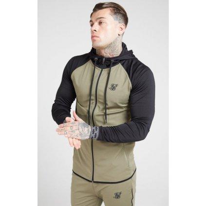 siksilk scope zip through hoodie khaki black p4517 42124 medium