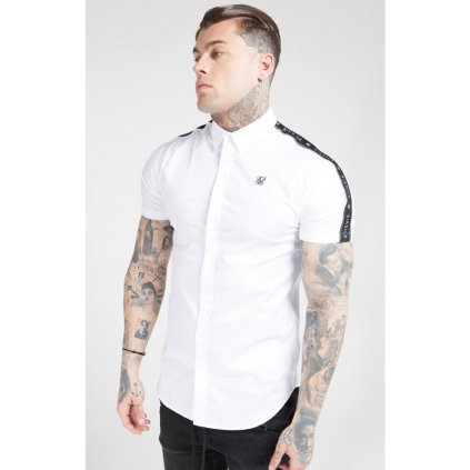 siksilk s s piped tape shirt white p4492 41861 medium