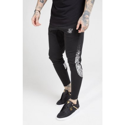 siksilk athlete tech fade track pants black silver p4171 42090 medium