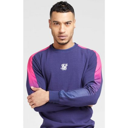siksilk fade panel crew sweat navy neon fade p4158 44156 medium