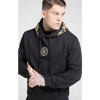 siksilk overhead hoodie jet black gold p4035 44077 medium