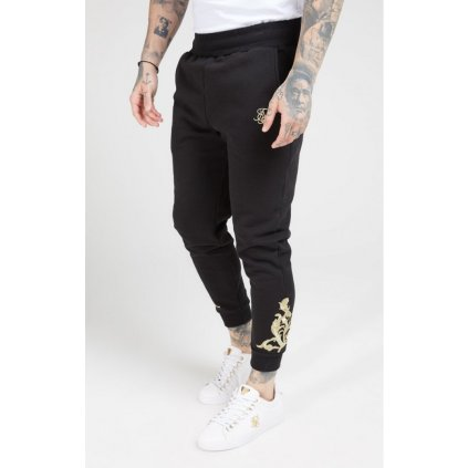 siksilk fitted joggers jet black gold p4036 36119 medium