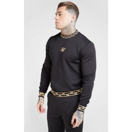 siksilk chain rib sweater black gold p4043 44850 medium