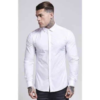 siksilk cotton stretch shirt white p682 39073 medium