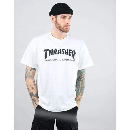 Pánske biele tričko Thrasher Skate Mag