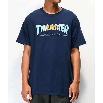 Thrasher Argentina Navy T Shirt 320511 front US