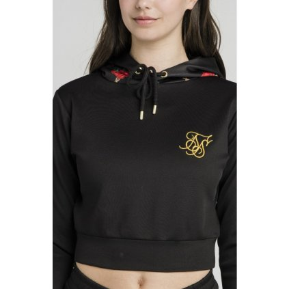 siksilk majestic cropped track top black p4387 40291 medium