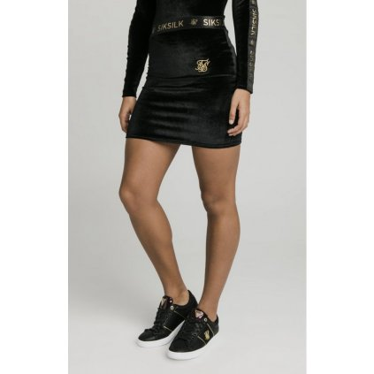 siksilk velour skirt black p4185 38171 medium