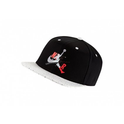 NIKE AIR JORDAN PRO JUMPMAN CLASSICS CEMENT HAT BLACK WHITEs mini