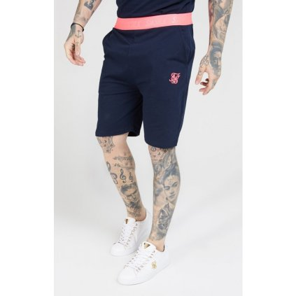 siksilk relaxed fit shorts navy neon pink p4625 43081 medium