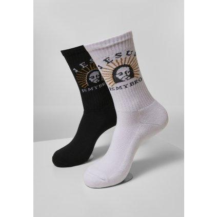 Ponožky MR.TEE Jesus Is My Bro Socks 2-Pack