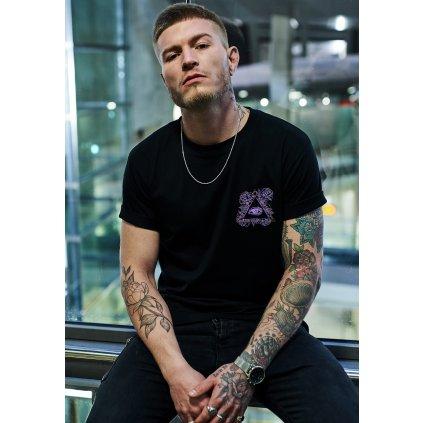Pánske tričko MR.TEE Purple Views Tee