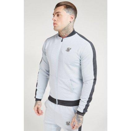 siksilk eyelet poly tape bomber jacket ice grey charcoal p4553 42336 medium