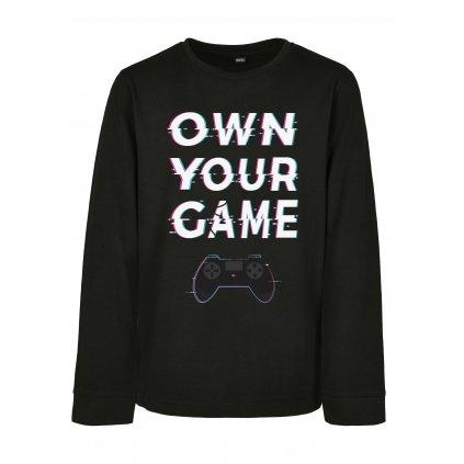 Detské tričko MR.TEE Kids Own Your Game Longsleeve
