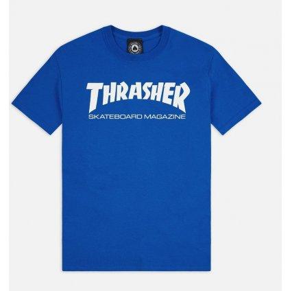 thrasher skate mag t shirt royal blue 1