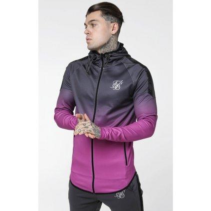 siksilk raglan athlete fade taped hoodie grey pink p3559 30921 medium
