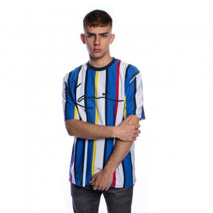 eng pl Karl Kani T shirt Stripe Tee white blue navy 41708 1