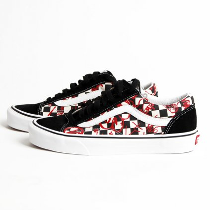 vans style 36 check board red 89573