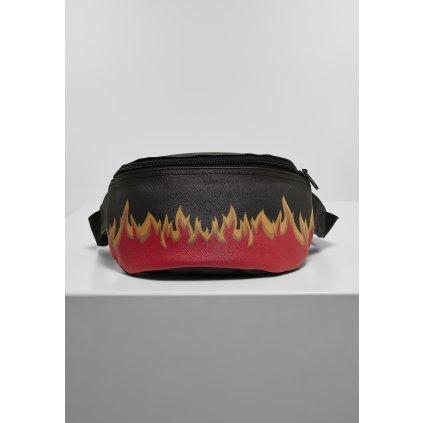 Ľadvinka MR.TEE Flame Print Leather Imitation Hip Bag