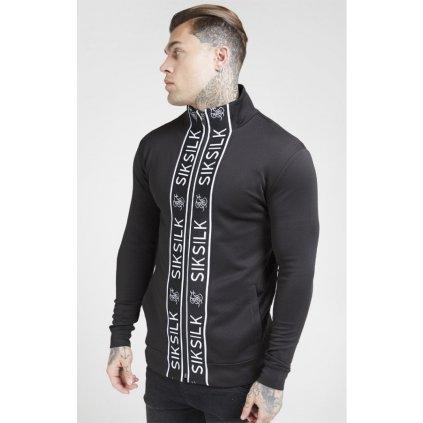siksilk funnel neck zip through track top black p4482 41669 medium