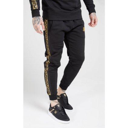 siksilk muscle fit nylon panel joggers black gold p4138 37042 medium