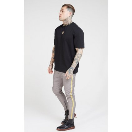 siksilk fitted smart tape jogger pants grey p4109 41677 medium