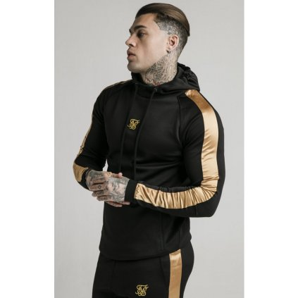 siksilk scope overhead panel hoodie black gold p4037 36132 medium
