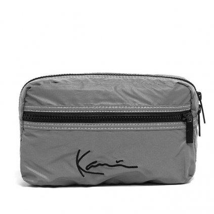 karl kani signature tape hip bag reflective silver 91255