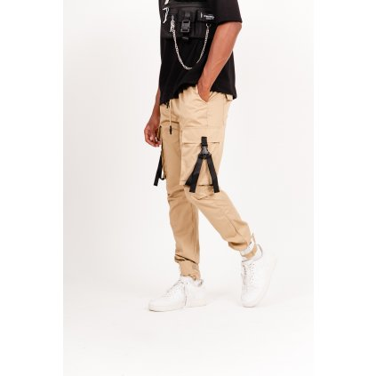 Pánske nohavice Sixth June Cargo pants with beige straps