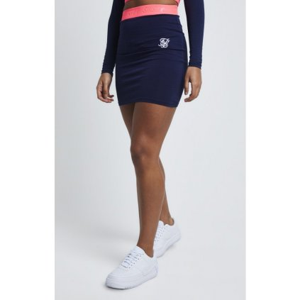 siksilk siksillk neon tape tube skirt navy p4373 46059 medium