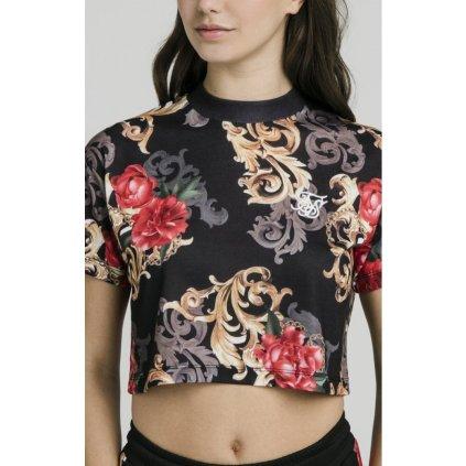 siksilk floral elegance crop tee black p4152 38283 medium