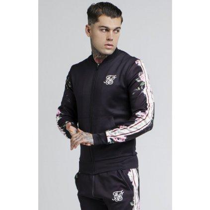 siksilk oil paint poly tricot bomber jacket black p2646 21851 medium