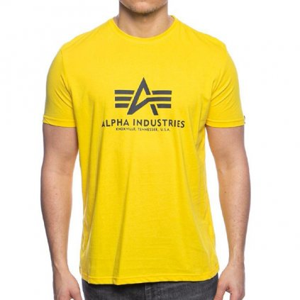 alpha industries basic tee yellow 91920