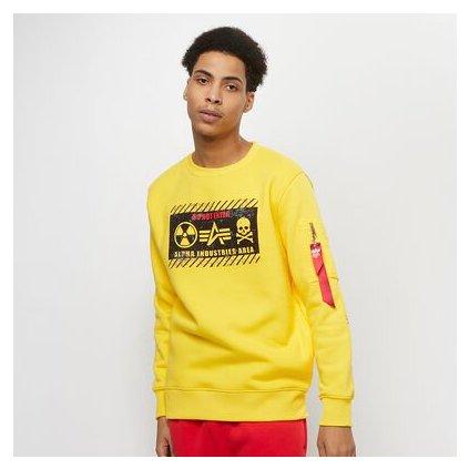 alpha industries radioactive sweater yellow 91940