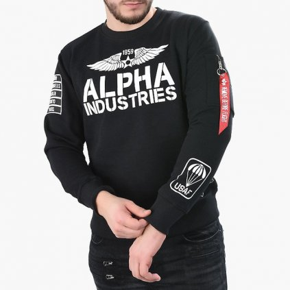 alpha industries rebel sweatshirt black 93219
