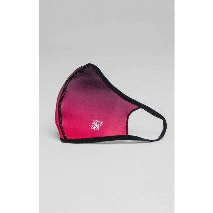 Rúško SikSilk Face Covering pink/black