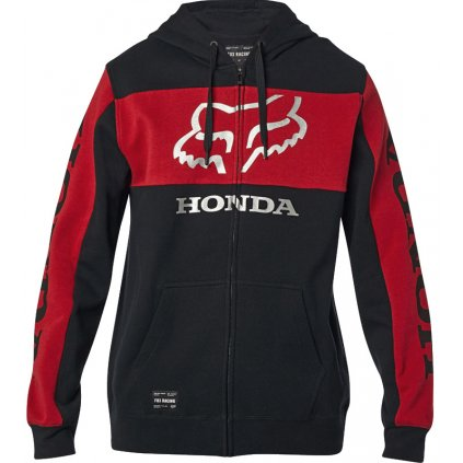 Pánska mikina Fox Honda Zip black/red