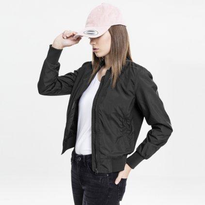 urban classics ladies light bomber jacket black 28810