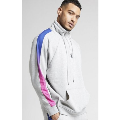 siksilk overhead 1 4 zip funnel fade panel top grey marl neon p3981 39278 medium